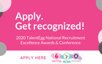 Apply to be recognized for your recruitment efforts in the nonprofit industry!